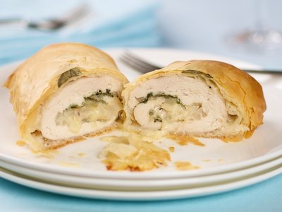 Low Fat Chicken in Phyllo