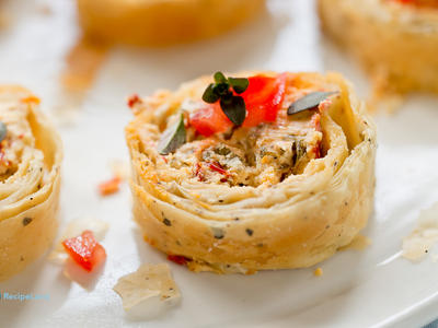 Sun Dried Tomato and Herb Cheese Strudels