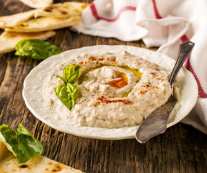Baba Ganoush with Pine Nuts