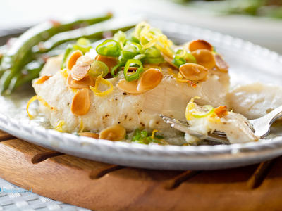 Almond Baked Norwegian Cod