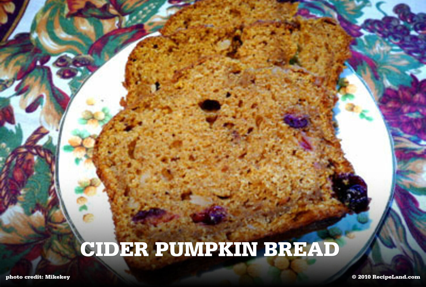 Cider Pumpkin Bread