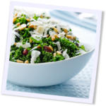 Kale Salad with Pinenuts, Currants and Parmesan recipe