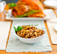 Sausage, Apple and Cranberry Turkey Stuffing