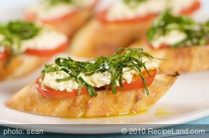 Goat Cheese & Basil Pizza Bites