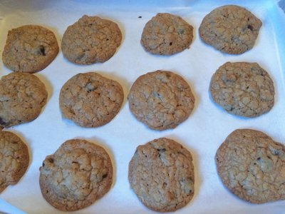 Chocolate Butterscotch Granola Cookies