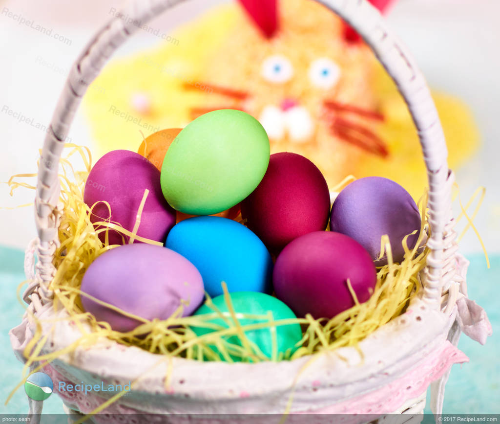 Easter Egg Dye With Color Chart Recipe
