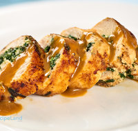 Spinach Ricotta Stuffed Chicken Breasts with Lemon White Wine Sauce