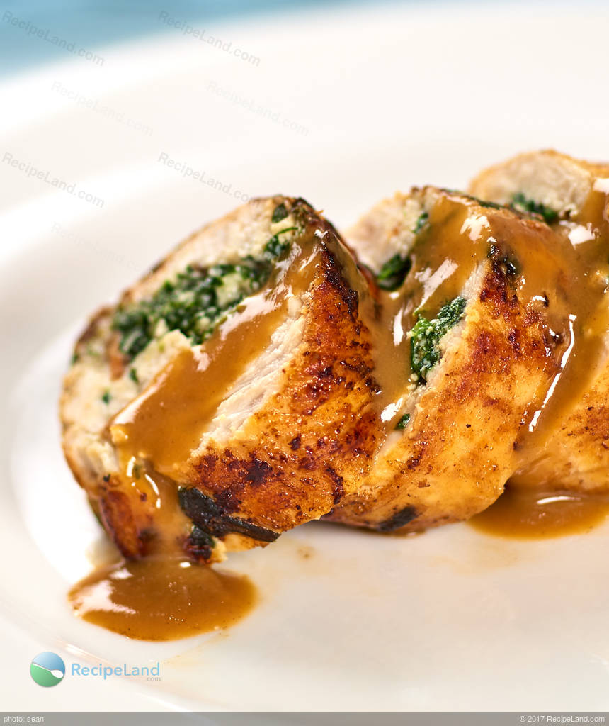 Spinach Ricotta Stuffed Chicken Breasts With Lemon White