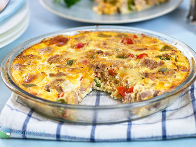 Crustless Tuna Quiche
