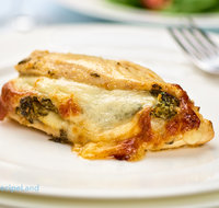 Chicken Breasts Stuffed with Spinach and Provolone