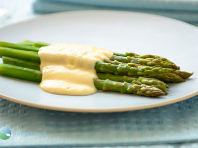 Baked Asparagus with Parmesan Cream Sauce