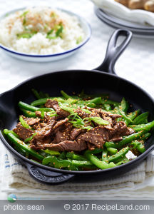 Honey-Soy Steak Strips Over Rice for Two