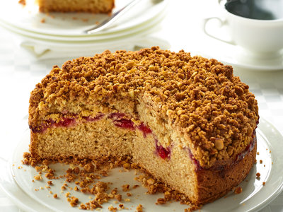 Cherry Coffee Cake with Almond Crumble