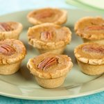 Mini Holiday Pumpkin Pecan Tarts