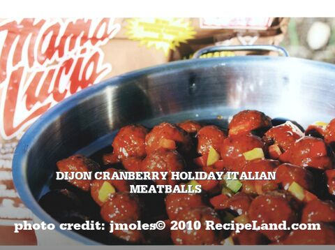 Dijon Cranberry Holiday Italian Meatballs