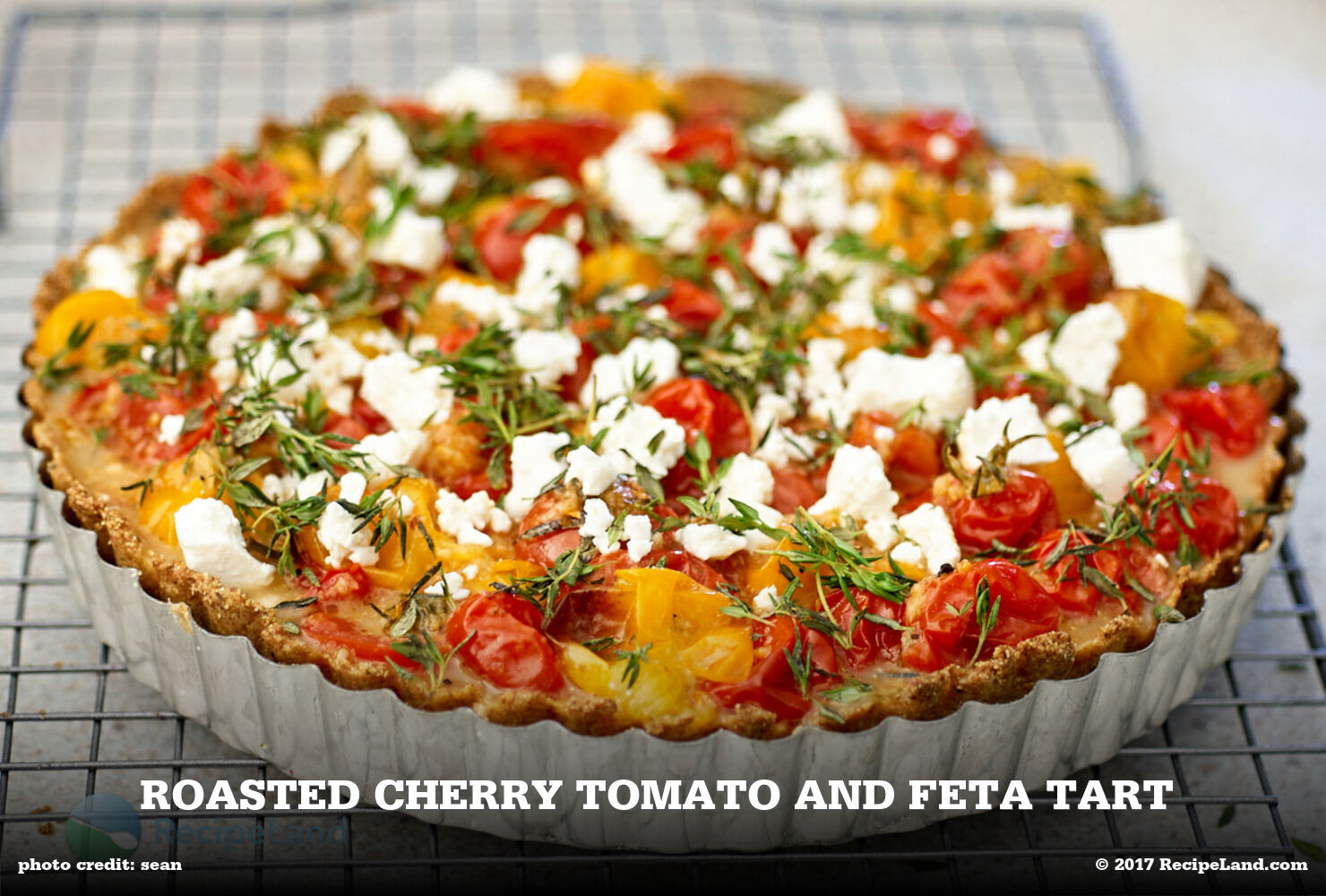 Roasted Cherry Tomato and Feta Tart