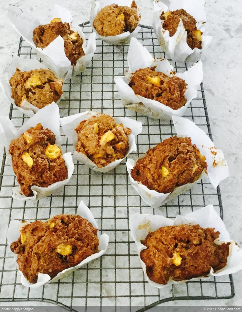 Sugar Free Peach Oat Bran Muffins Recipe