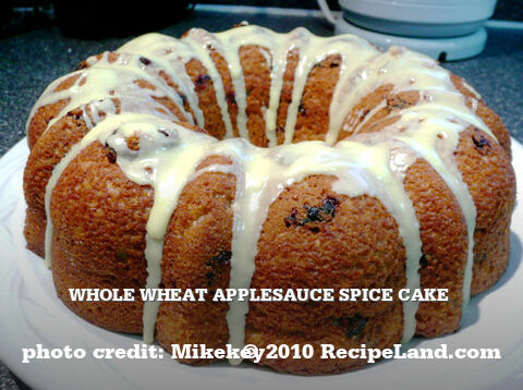 Whole Wheat Applesauce Spice Cake