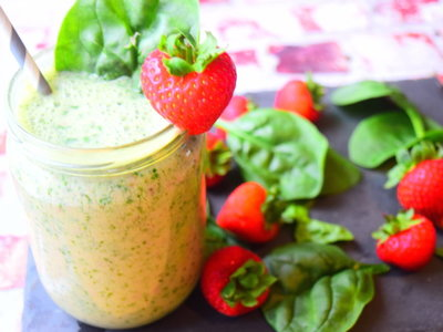 Spinach & Strawberry Smoothie