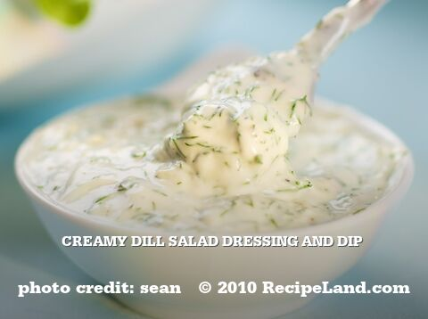 Creamy Dill Salad Dressing and Dip