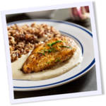 Chicken Breasts with Roasted Garlic-Chevre Sauce recipe
