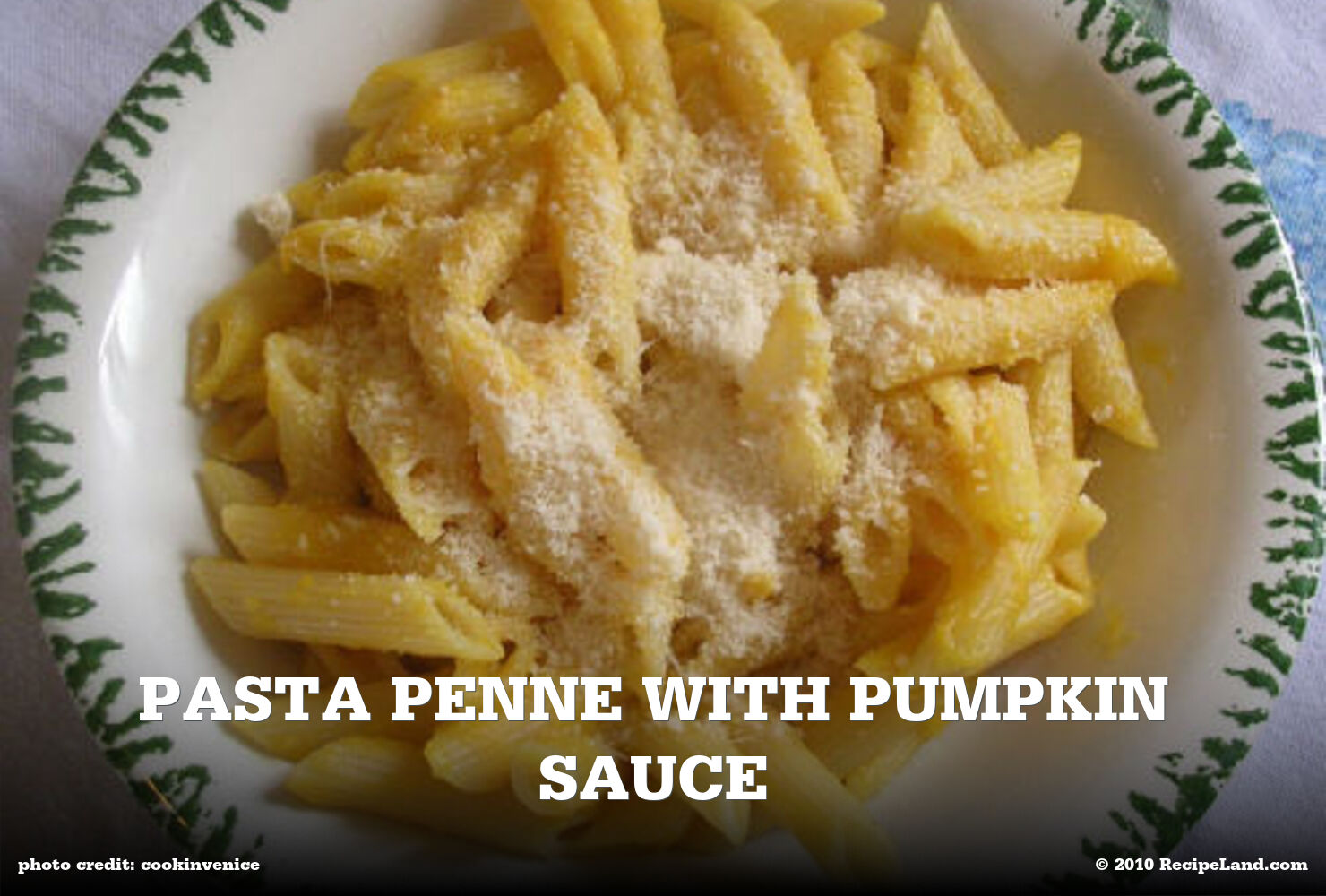 Pasta Penne with Pumpkin Sauce