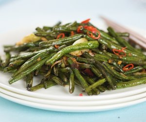 Stir-fried Long Beans with Red Chile and Garlic