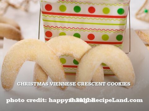 Christmas Viennese Crescent Cookies