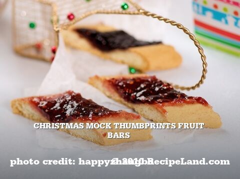 Christmas Mock Thumbprints Fruit Bars