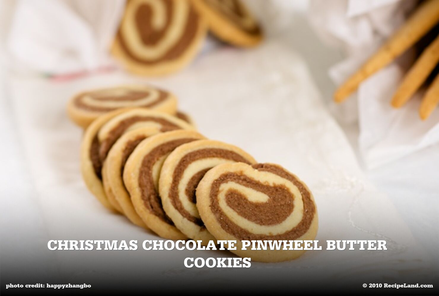 Christmas Chocolate Pinwheel Butter Cookies