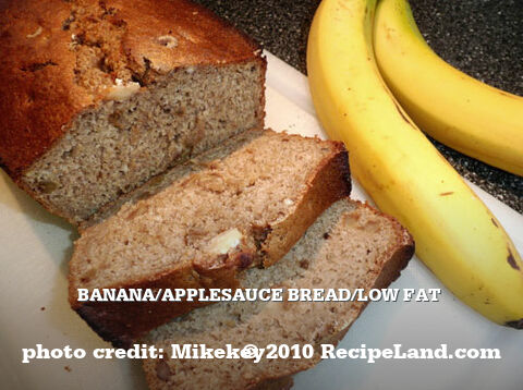 Banana/Applesauce Bread/Low Fat