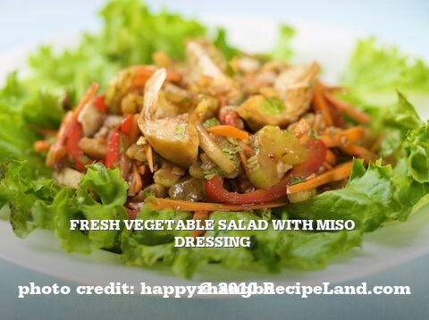 Fresh Vegetable Salad with Miso Dressing