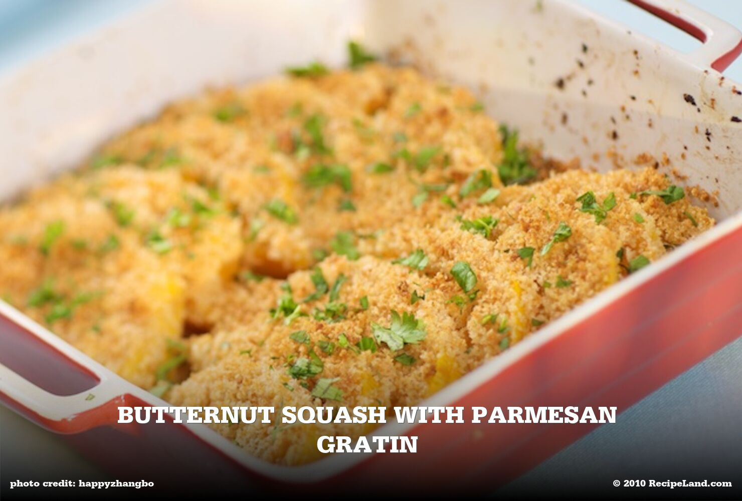Butternut Squash with Parmesan Gratin
