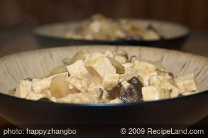 Chinese Braised Mushrooms and Tofu
