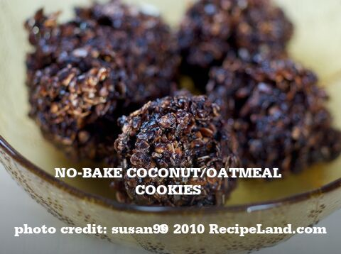 No-Bake Coconut/Oatmeal Cookies