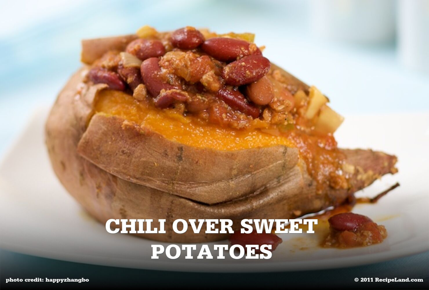 Chili Over Sweet Potatoes