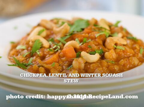 Chickpea, Lentil and Winter Squash Stew