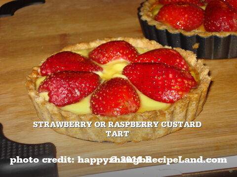 Strawberry or Raspberry Custard Tart