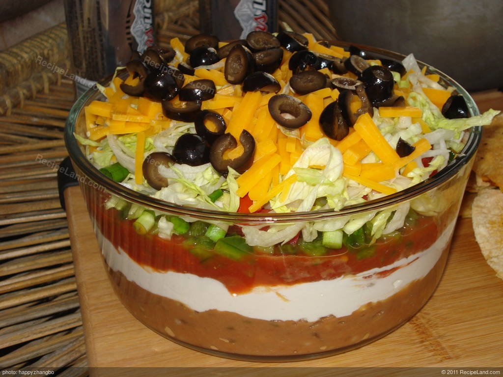 Seven Layer Taco Dip Superbowl