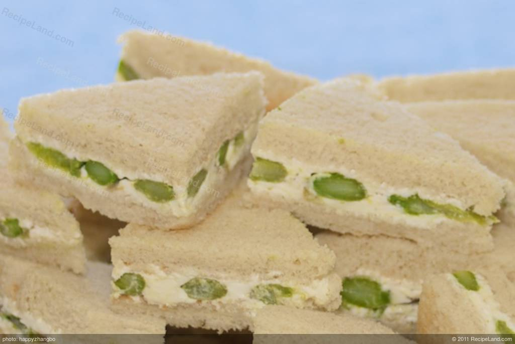 Asparagus Cheese Party Sandwiches Recipe