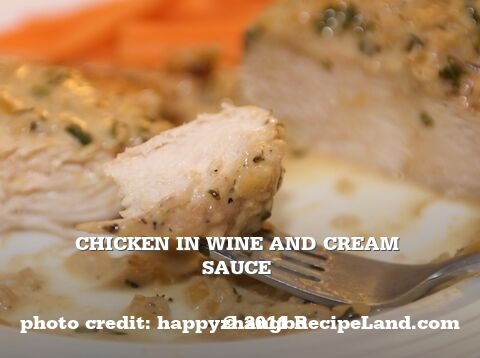 Chicken in Wine and Cream Sauce