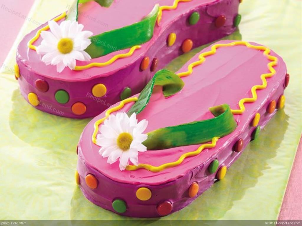 Brilliant Betty Crocker Flip Flops Cake Recipe Funny Birthday Cards Online Elaedamsfinfo