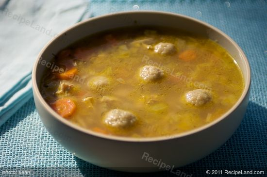 Ashkenazic Chicken Soup and Matzo Balls with Fresh Dill