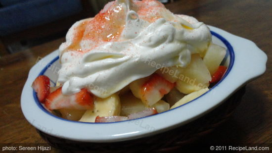 Fruit Salad with Cream