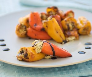 Goat Cheese and Herbs Stuffed Baby Peppers