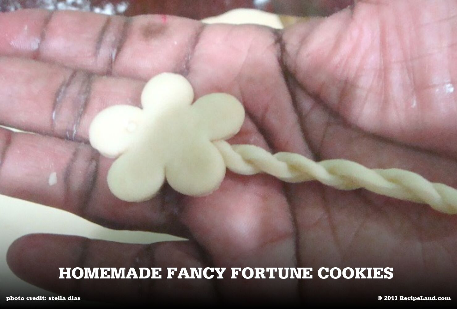 Homemade Fancy Fortune Cookies