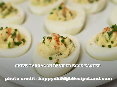 Chive Tarragon Deviled Eggs-Easter