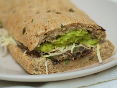 Black Bean and Avocado Sandwich