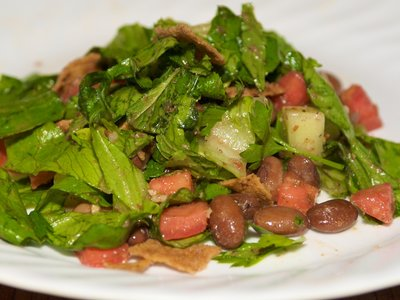 Toasted Pita and Pinto Bean Salad