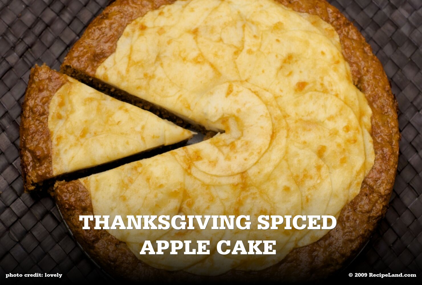 Thanksgiving Spiced Apple Cake
